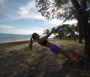 TRX in spiaggia