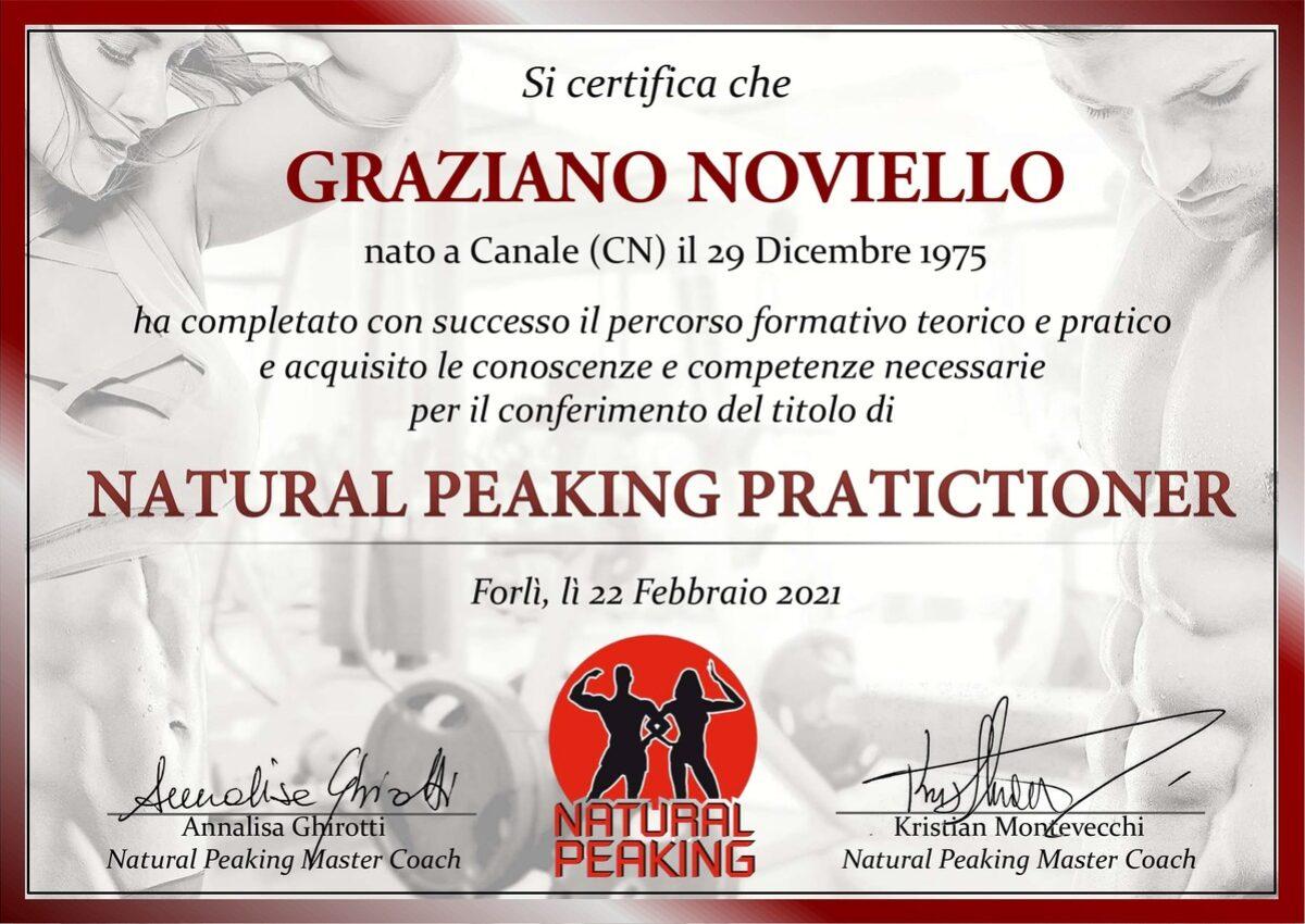 Diploma Natural Peaking Pratictioner Graziano Noviello
